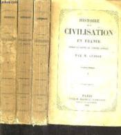 Histoire De La Civilisation En France Depuis La Chute De L'Empire Romain / En 4 Tomes / 6e Edition. - Couverture - Format classique