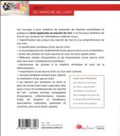 Droit du marché de l'art - 4ème de couverture - Format classique