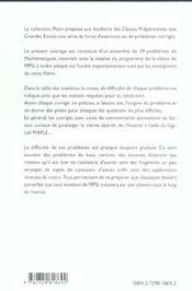 Maths Mpsi Problemes Avec Indications Et Corriges Detailles Pour Assimiler Tout Le Programme - 4ème de couverture - Format classique