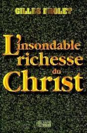 L insondable richesse du christ - Couverture - Format classique