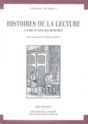 Histoire de la lecture. un bilan des recherches - Couverture - Format classique