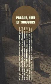 Prague, hier et aujourd'hui - 4ème de couverture - Format classique