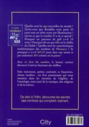 Le livre des nombres ; de zéro à l'infini, une passionnante histoire des nombres qui comptent - 4ème de couverture - Format classique