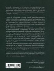 La France de Louis XV - 4ème de couverture - Format classique