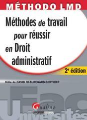 Méthodes de travail en droit administratif (2e édition) - Couverture - Format classique