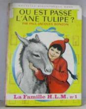 Où est passé l'âne tulipe - Couverture - Format classique