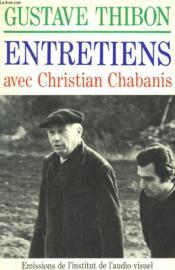 Entretiens Avec Christian Chabanis. - Couverture - Format classique