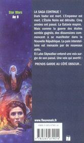 Star wars t.12 ; la croisade noire de jedi fou t.1 ; l'héritier de l'empire - 4ème de couverture - Format classique