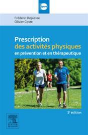 Prescriptions des activités physiques (2e édition) - Couverture - Format classique