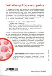 Institutions politiques comparées (3e édition) - 4ème de couverture - Format classique
