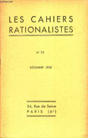 LES CAHIERS RATIONALISTES - N°72 - decembre 1978 /PAUL COUDERC - LES NEBULEUSES / ACTIVITE DES SECTIONS / TABLES DES MATIERES DU TOME VII. - Couverture - Format classique