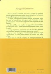 Rouge impératrice - 4ème de couverture - Format classique