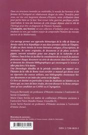 La Ville De Rome De Cesar A Commode L'Antiquite Une Histoire Dossiers - 4ème de couverture - Format classique