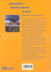 Alimentation Mediterraneene - 4ème de couverture - Format classique