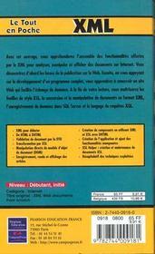 Le Tout En Poche Xml - 4ème de couverture - Format classique