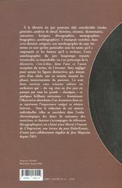 Autobiographie Du Jazz - 4ème de couverture - Format classique