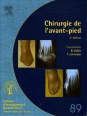 Chirurgie de l'avant-pied (2e édition) - Couverture - Format classique