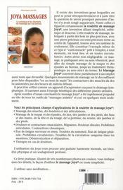 Joya Massages - 4ème de couverture - Format classique