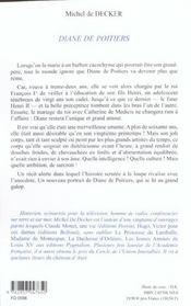 Diane De Poitiers - 4ème de couverture - Format classique