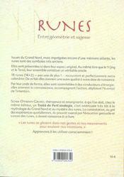 Runes Entre Geometrie Et Sagesse - 4ème de couverture - Format classique