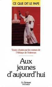 Aux jeunes d'aujourd'hui, 1985-1989 - Couverture - Format classique
