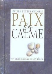Paix Et Calme - Intérieur - Format classique