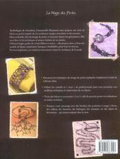 Magie des perles. bijoux et accessoires en tissage - 4ème de couverture - Format classique