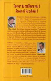 Guide des vins Gilbert et Gaillard - 4ème de couverture - Format classique