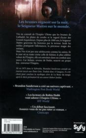 Fils-des-Brumes T.1 ; l'empire ultime - 4ème de couverture - Format classique