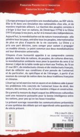 Culture nationale et universalisme ; optiques françaises et chinoises - 4ème de couverture - Format classique
