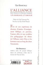 L'alliance dans l'ancien et le nouveau Testament - 4ème de couverture - Format classique
