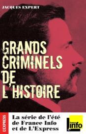 Les grands criminels de l'histoire - Couverture - Format classique