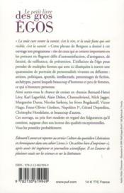 Le petit livre des gros égos - 4ème de couverture - Format classique