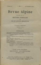 Revue Alpine Volume 23 N°4 : Une Traversee Au Col De La Brenva - Notes Sur Le Versant De La Brenva Du Mont Mont Blanc... - Couverture - Format classique