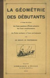 La Geometrie Des Debutants. - Couverture - Format classique