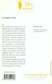 Droit civil (6eme ed) (le) - Couverture - Format classique