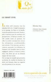 Droit civil (6eme ed) (le) - 4ème de couverture - Format classique