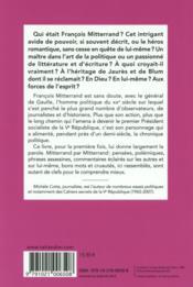 Le monde selon Mitterrand - 4ème de couverture - Format classique