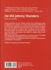 J'ai été Johnny Thunders - 4ème de couverture - Format classique