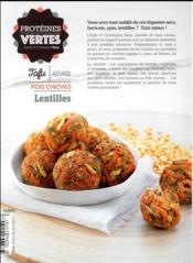 Protéines vertes - 4ème de couverture - Format classique