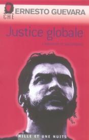 Justice globale ; libération et socialisme - Couverture - Format classique