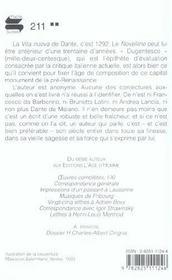 Novellino (Le) - 4ème de couverture - Format classique