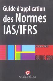 Guide d'application normes ias/ifrs - Intérieur - Format classique