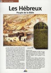 Les hébreux, peuple de la bible - Intérieur - Format classique