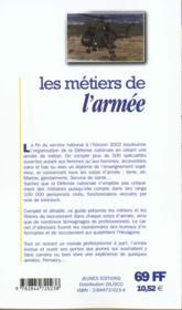 Les metiers t.297 ; armee - 4ème de couverture - Format classique