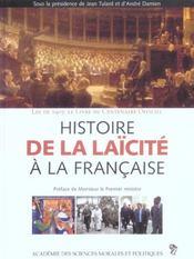 Histoire de la laicite a la francaise loi de 1905, le livre du centenaire officiel - Intérieur - Format classique