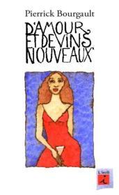 D'amour et de vins nouveaux - Couverture - Format classique
