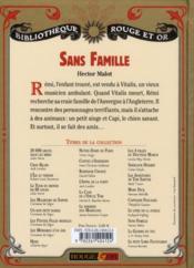 Sans famille - 4ème de couverture - Format classique