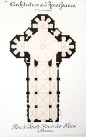 Architecture de la Renaissance. Coupole de Sainte-Marie-des-Fleurs à Florence [ Beau lavis original ] On joint : Plan de Sainte-Marie-des-Fleurs [ Santa Maria del Fiore ] - Couverture - Format classique