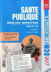 Ue Ecn Le Cours Sante Publique - Couverture - Format classique